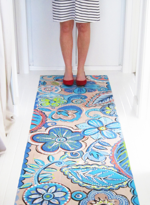 Alisa Burke - Porch - DIY Painted Floors