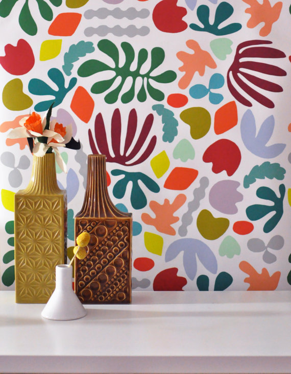 8 fun ways to get patterned walls without dealing with for Fun wallpaper for walls