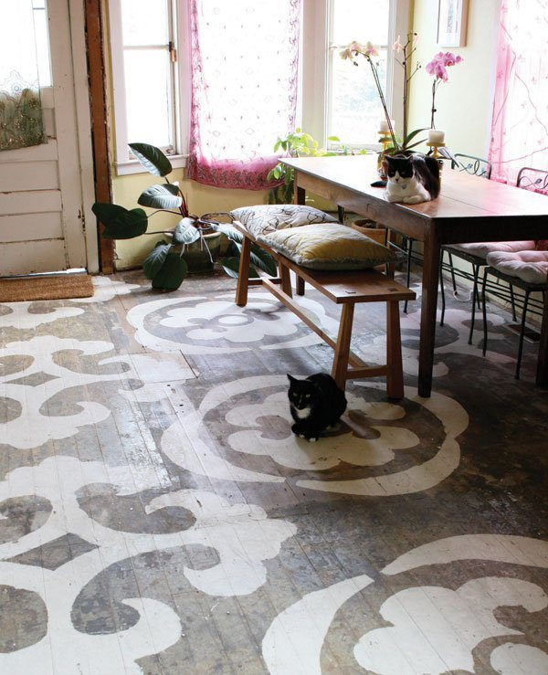 Painting Wooden Floors: 12 Stunning Painted Floors That Will Inspire You To Up