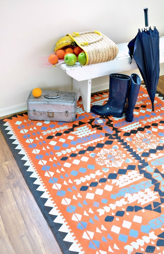 Nellie Bellie - Porch - DIY rugs